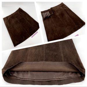 CO & EDDY Genuine Suede Brown Pencil Skirt Sz 12